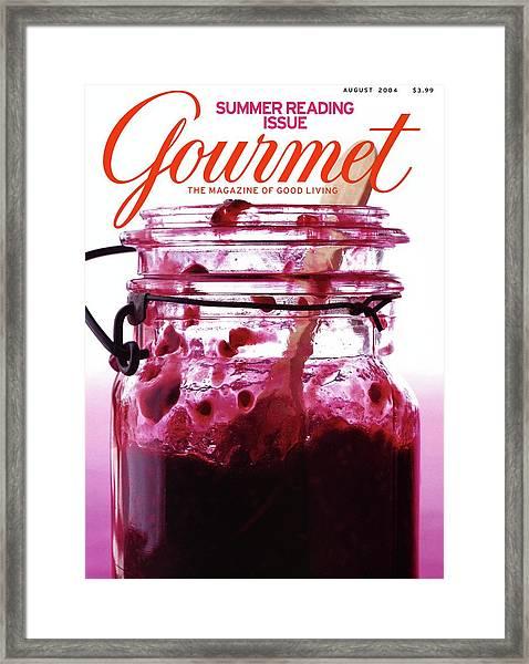 A Jar Of Skillet Blackberry Jam Framed Print