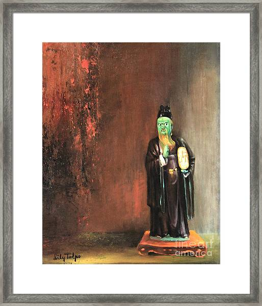 A Judge Of Hell  Framed Print