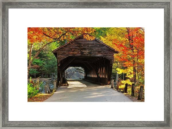 A Kancamagus Gem - Albany Covered Bridge Nh Framed Print