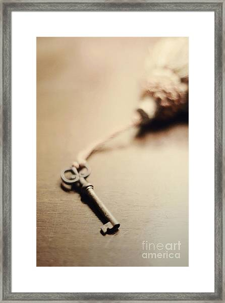 A Key... Framed Print