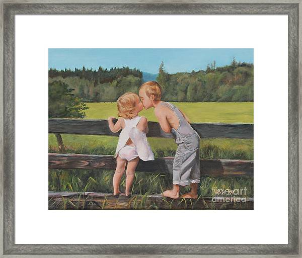 A Kiss For Little Sister Framed Print