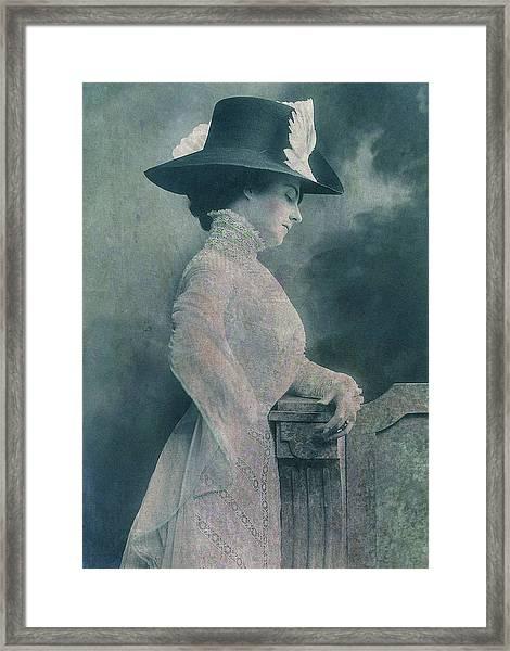 A Lady Ponders Framed Print