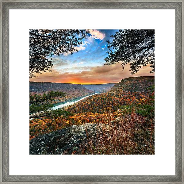 A Late Autumn View Framed Print