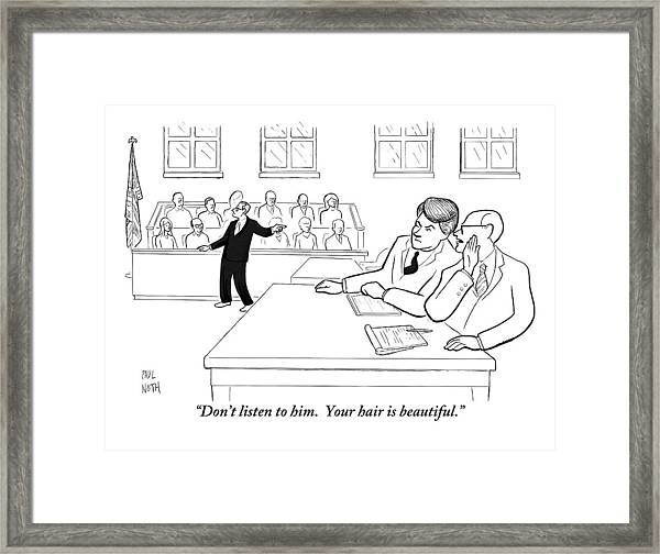 A Lawyer To His Client During His Trial Framed Print