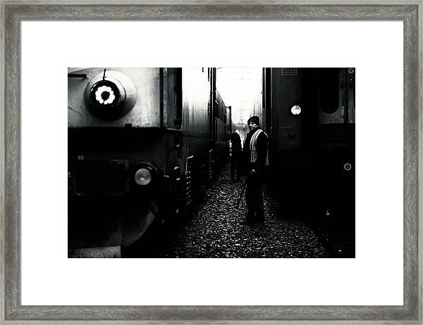 A Life Between Trains Framed Print