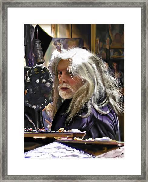 A Life Of Colour - Robert Lenkiewicz -1941 - 2002 Framed Print