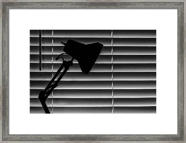 A Light In The Dark Still Life Framed Print