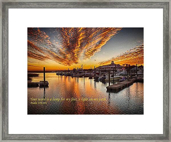 A Light On My Path Framed Print