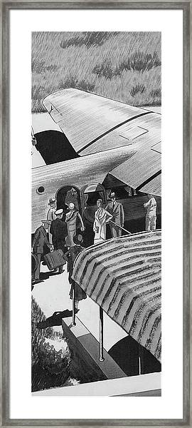 A Lindbergh Airplane In The Arizona Desert Framed Print