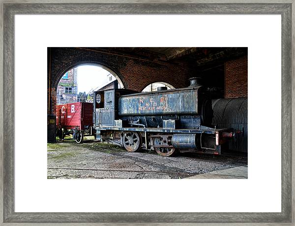 A Locomotive At The Colliery Framed Print