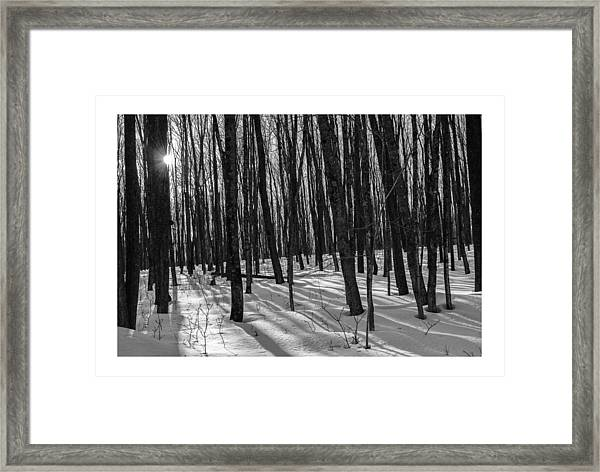 A Long Winter's Day Framed Print