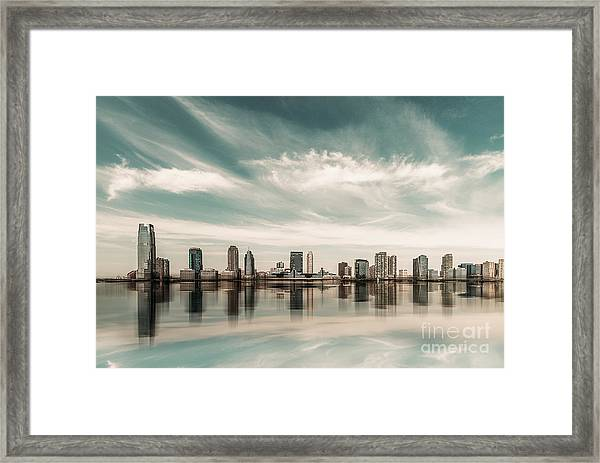 a look to New Jersey  Framed Print