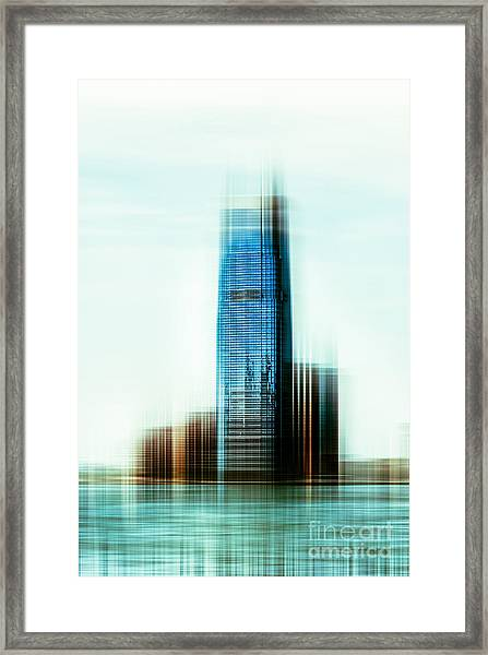 A Look To New Jersey II - Steel Framed Print