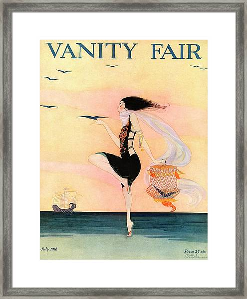 A Magazine Cover For Vanity Fair Of A Woman Framed Print