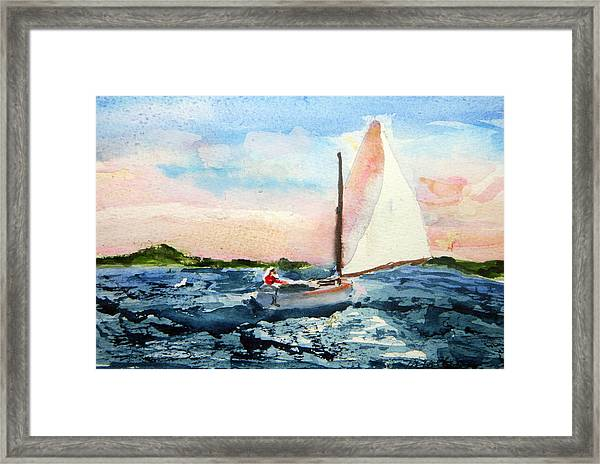 A Man And His Boat Framed Print