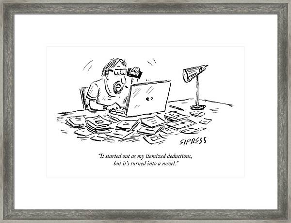 A Man Talking On The Phone Framed Print
