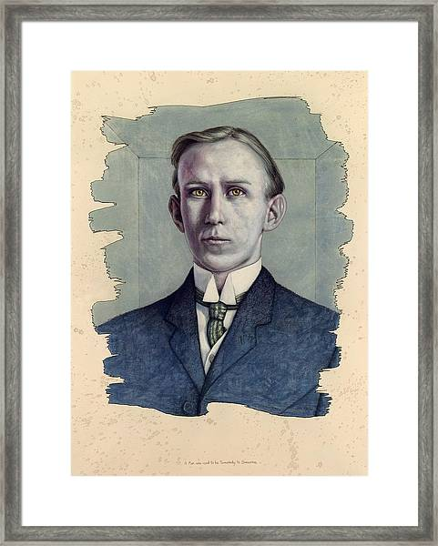 A Man Who Used To Be Somebody To Someone Framed Print