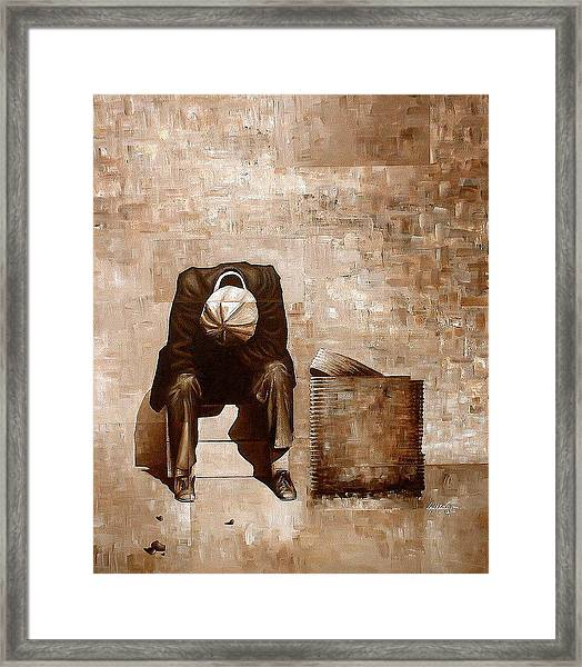 A Man's Fate Framed Print by Laurend Doumba