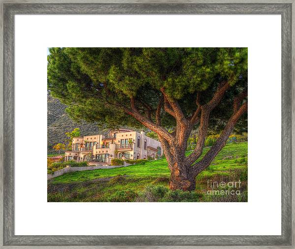 A Man's Home Is His Castle Framed Print
