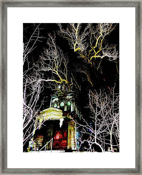 A Mansion In Darkness Framed Print