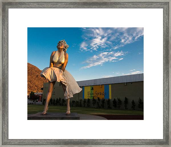 A Marilyn Morning Framed Print