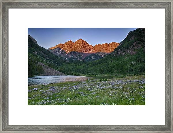 A Maroon Morning - Maroon Bells Framed Print