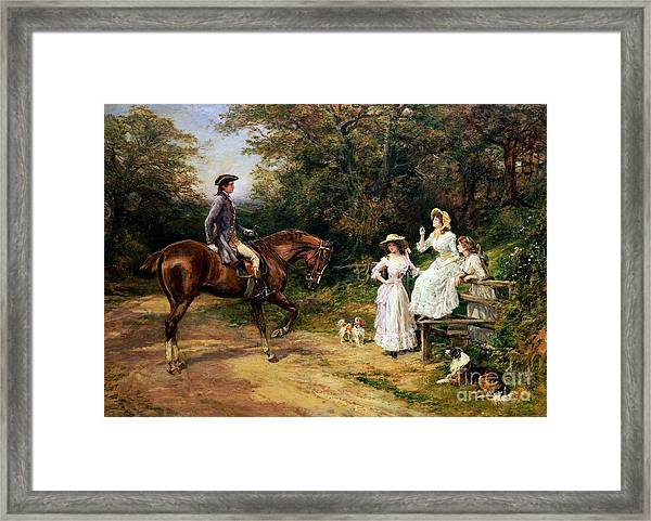 A Meeting By A Stile  Framed Print