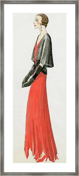 A Model At The Theatre Pigalle In Paris Framed Print