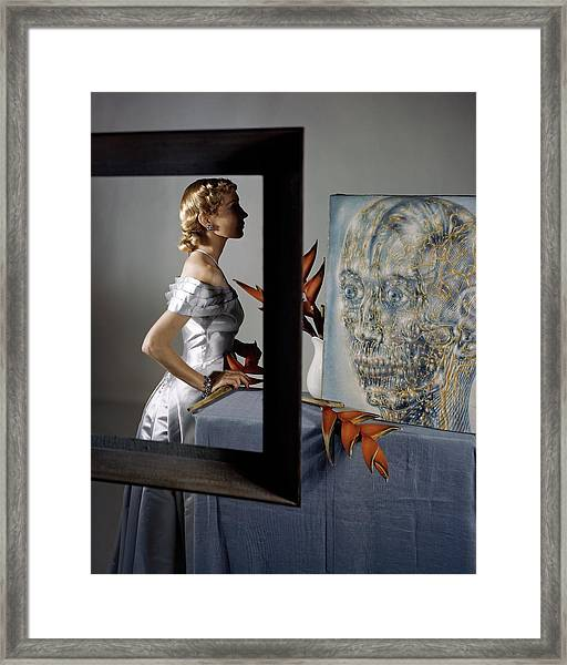 A Model By Pavel Tchelitchew's The Head Of Gold Framed Print