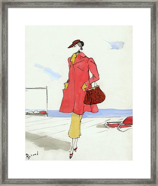 A Model On The S.s. Normandie Framed Print