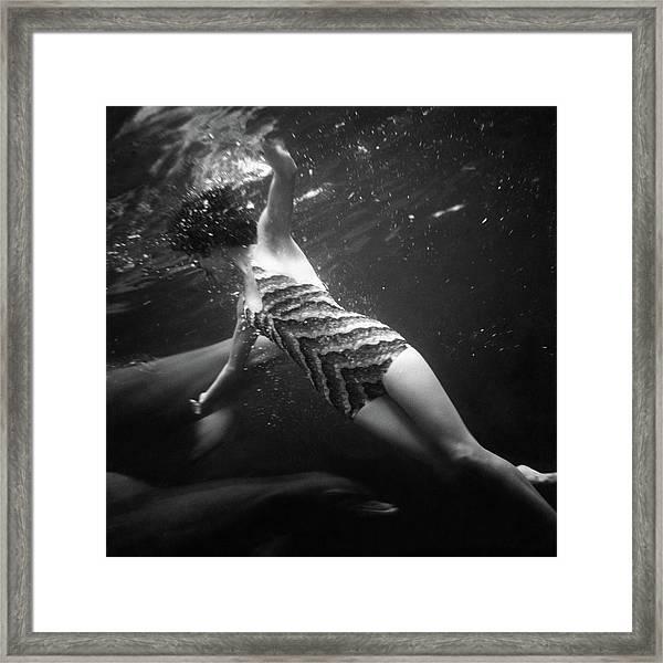 A Model Wearing A Best Bathing Suit Framed Print