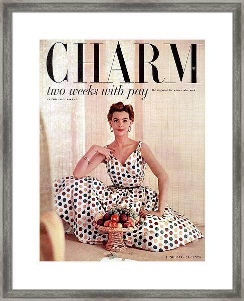A Model Wearing A Sundress By Grace Normal Framed Print