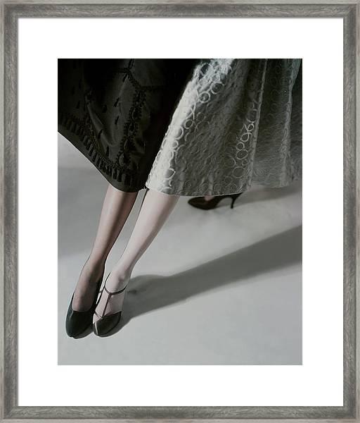 A Model Wearing Artcraft Stockings Framed Print by Horst P. Horst