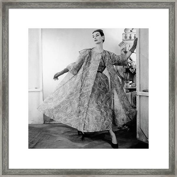 A Model Wearing Balenciaga Framed Print