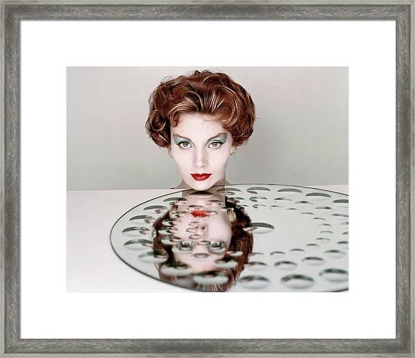 A Model Wearing Clairol Hair Dye Framed Print by Richard Rutledge