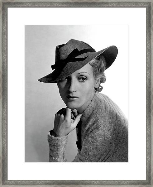 A Model Wearing Descat And Jane Regny Framed Print