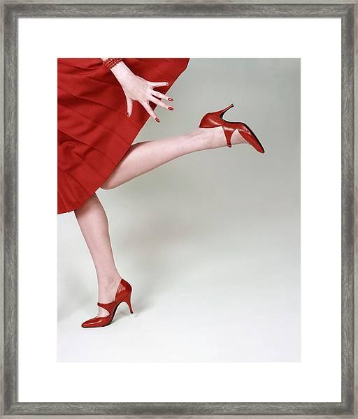 A Model Wearing Fleming-joffe Shoes Framed Print