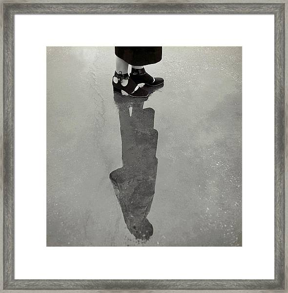 A Model's Feet Wearing R. R. Bunting Shoes Framed Print