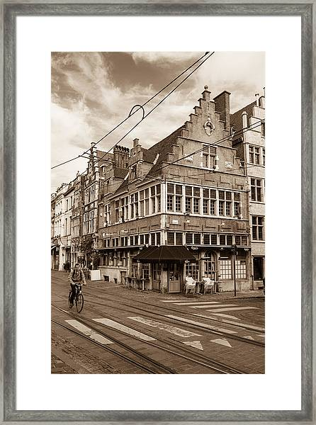 A Morning In Ghent Framed Print