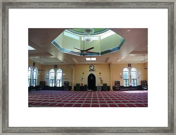 A Mosque Interior Framed Print