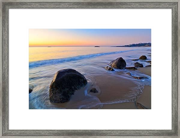 A New Day Singing Beach Framed Print