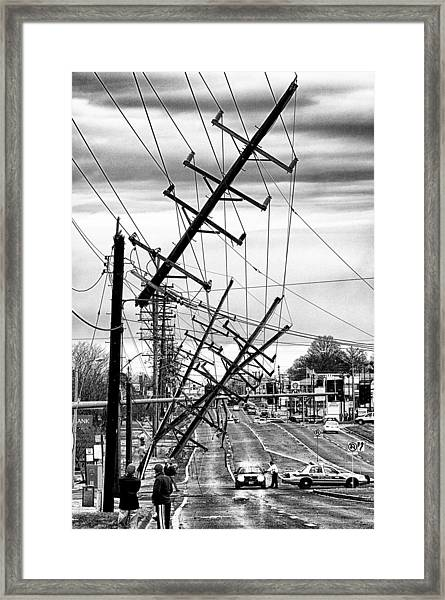 A New Years Eve On Route 66 Framed Print