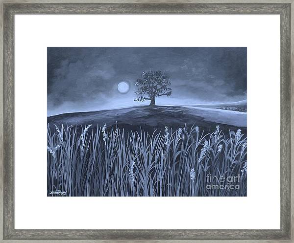 A Night At The Plains Framed Print by Nereida Rodriguez