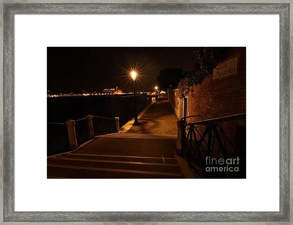 A Night Walk In Venice Framed Print