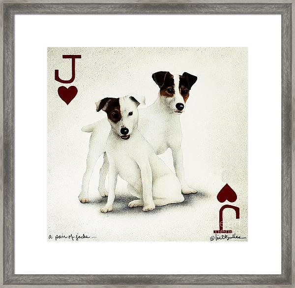 A Pair Of Jacks... Framed Print