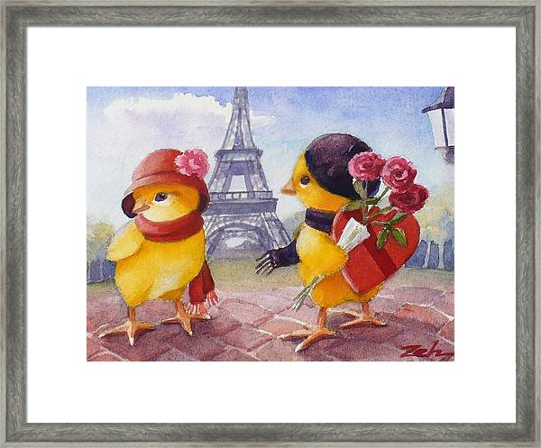 A Paris Valentine Framed Print