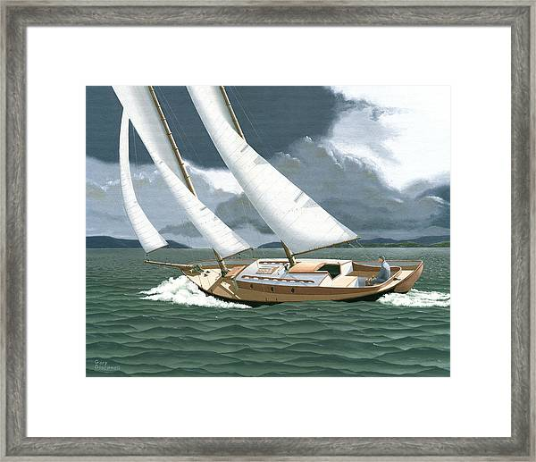 A Passing Squall Framed Print