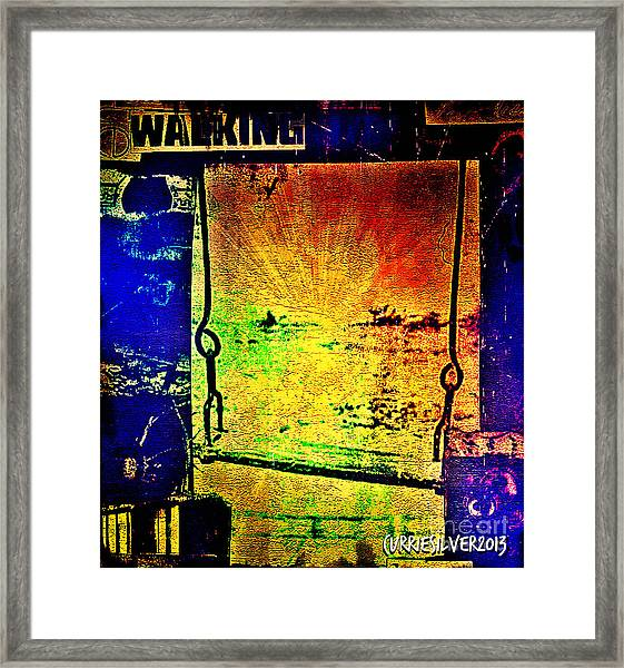 A Peace Of Sky Framed Print by Currie Silver