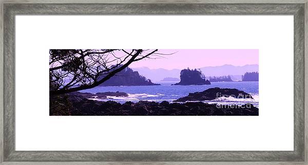 a Peek at the Bay Framed Print