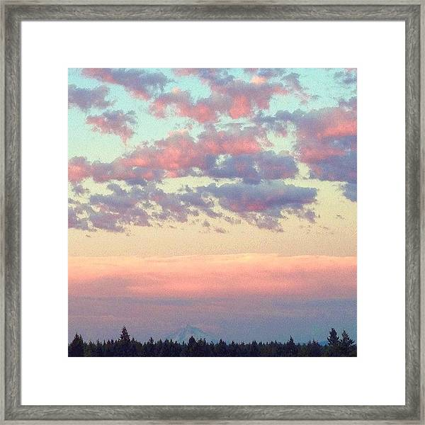 Summer Evening Under A Cotton Framed Print